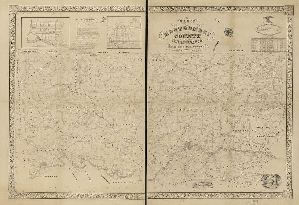 Map of Montgomery County, Pennsylvania : from original surveys /