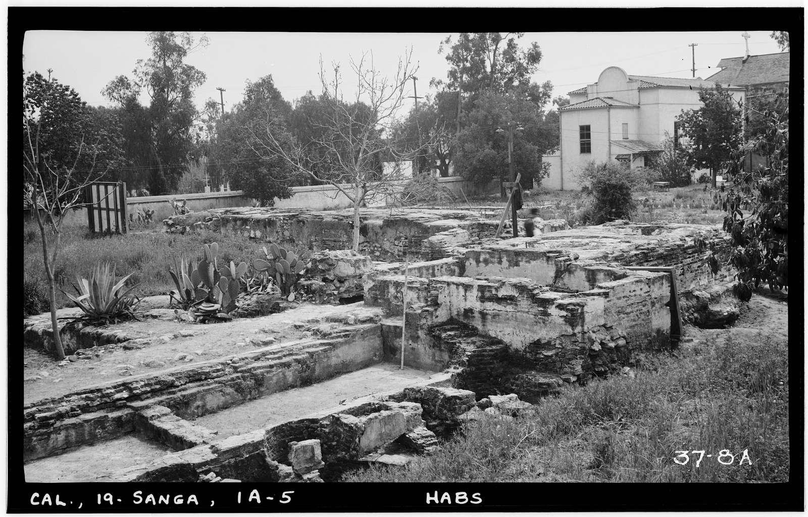 Mission San Gabriel Arcangel, Industrial Shop (Ruins), West Mission Drive & Junipero Serra Street, San Gabriel, Los Angeles County, CA
