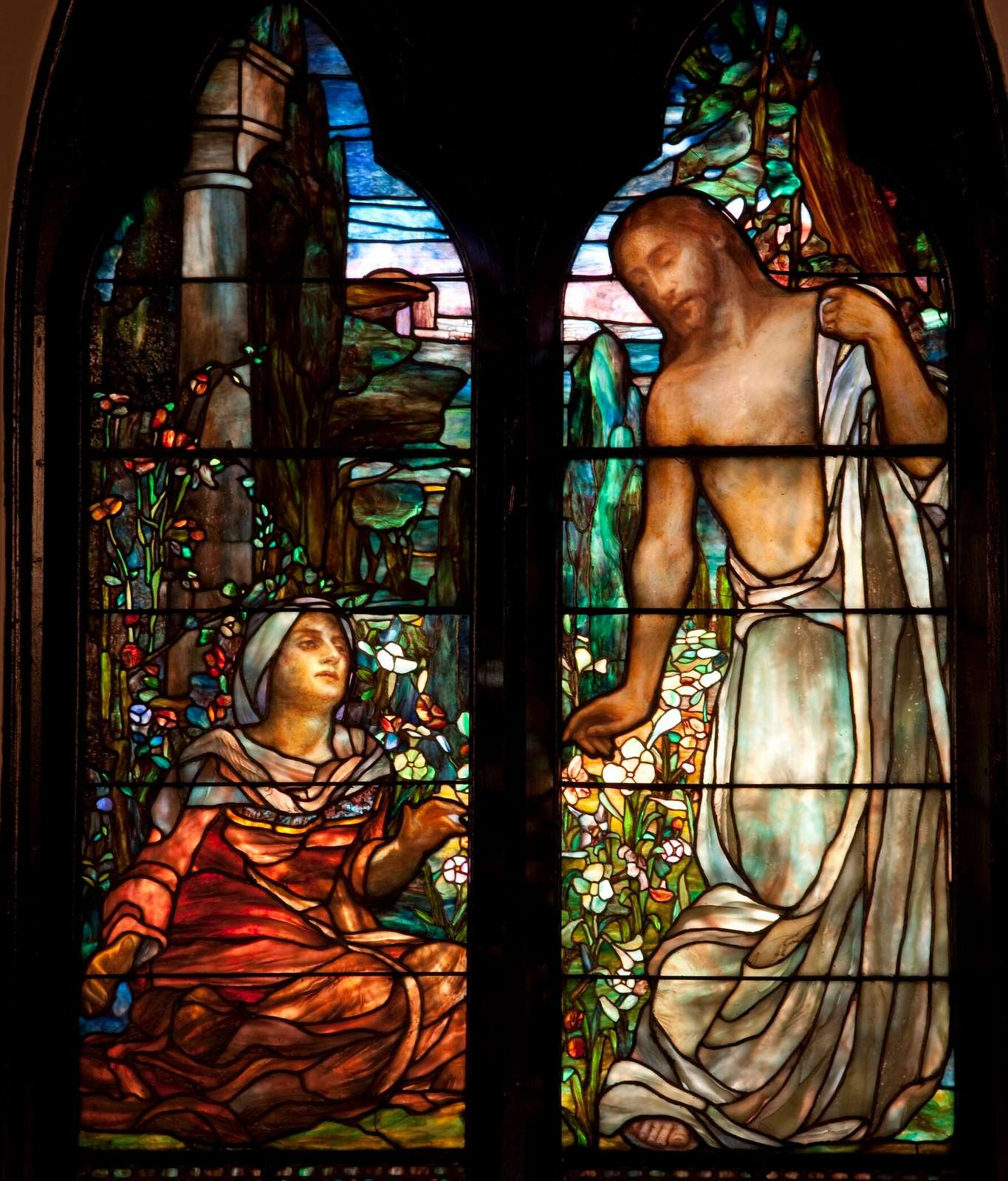 Tiffany stained glass windows, St. Paul's Episcopal Church, Selma, Alabama