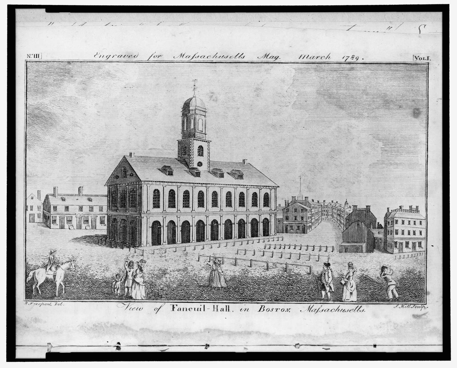 View of Faneuil-Hall in Boston, Massachusetts / W. Pierpont del. ; S. Hill sculp.