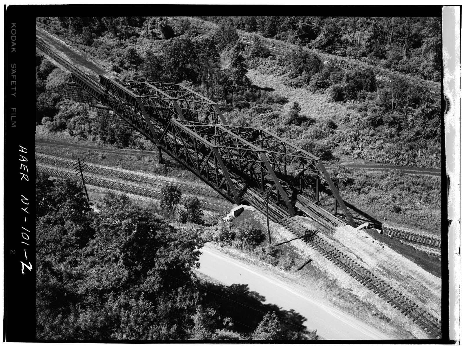Baltimore & Ohio Railroad, Baltimore Skewed Thru-Truss Bridge, Salamanca, Cattaraugus County, NY