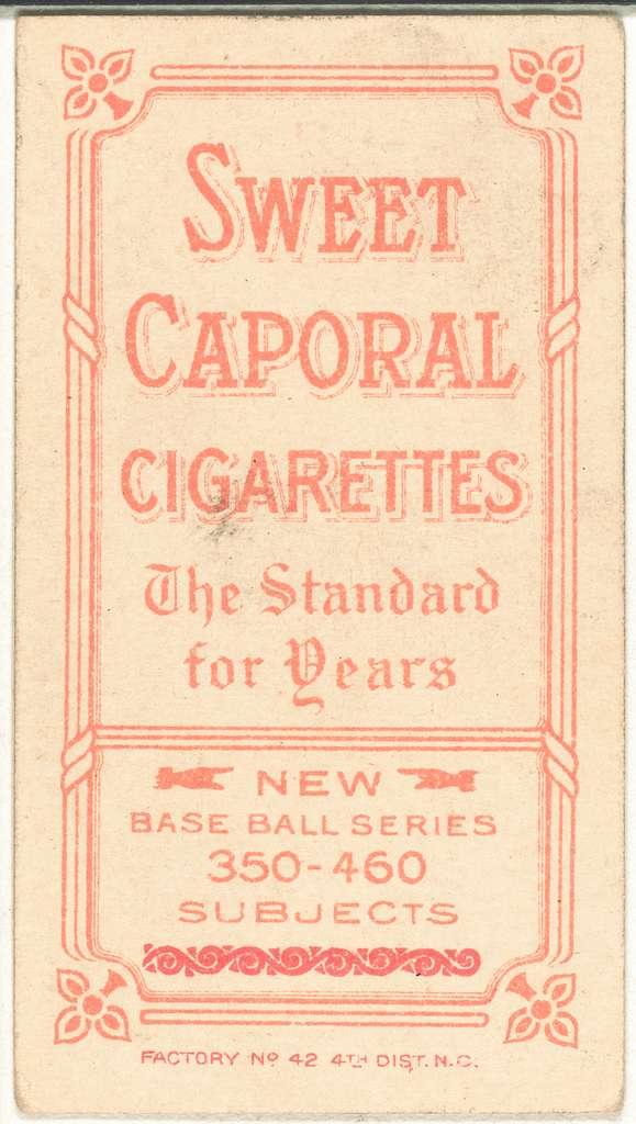 [Chick Gandil, Chicago White Sox, baseball card portrait]