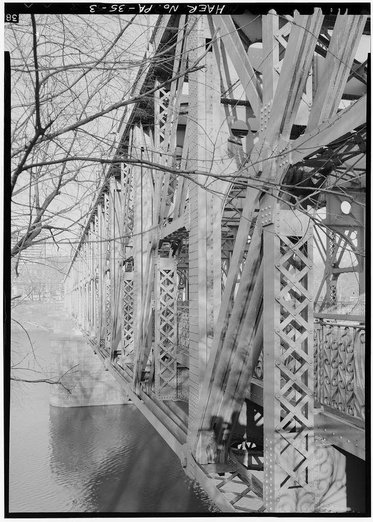 Falls Bridge, Spanning Schuylkill River, connecting East & West River Drives, Philadelphia, Philadelphia County, PA