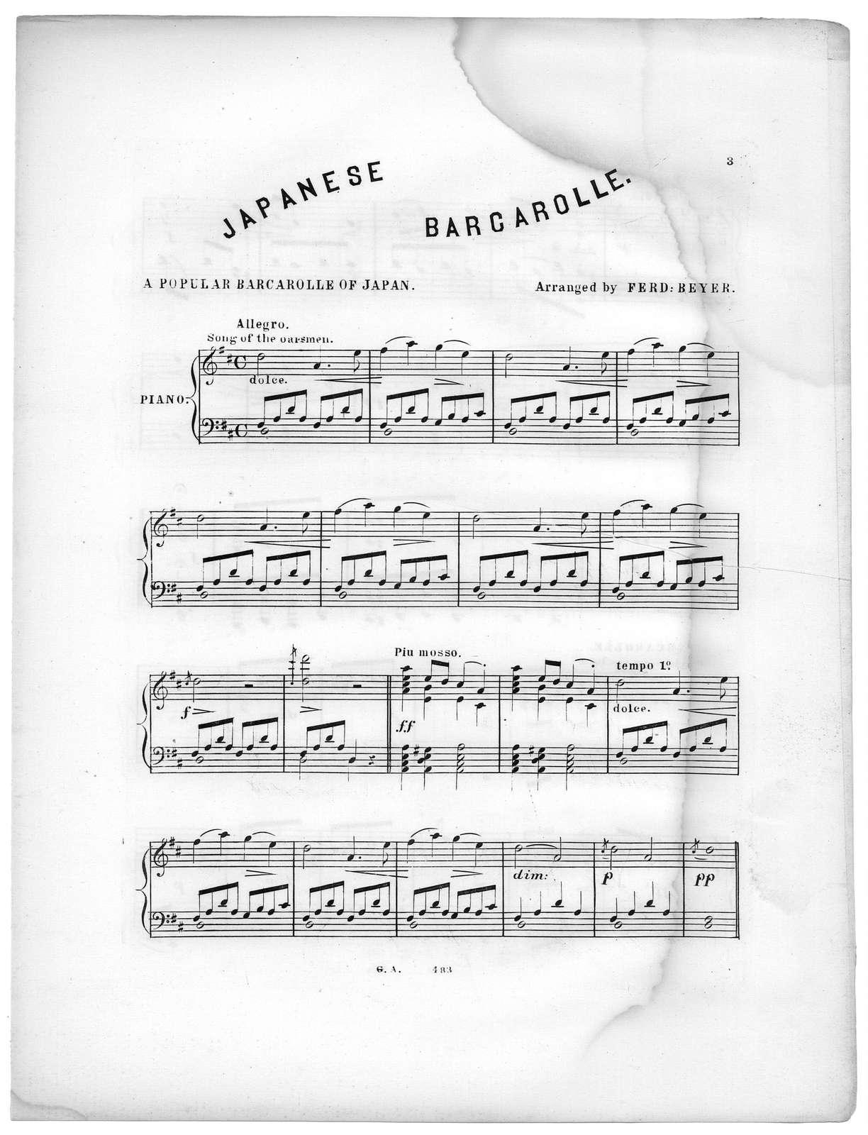 Japanese barcarolle
