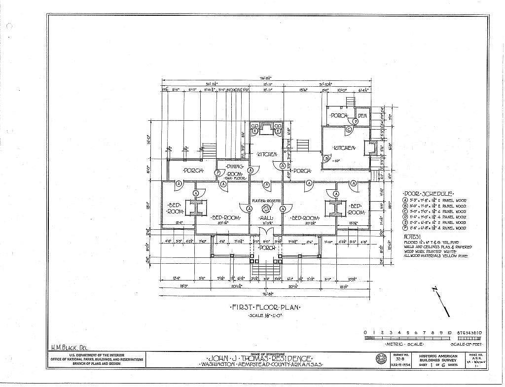 John T. Thomas House, Old Military Road, Washington, Hempstead County, AR