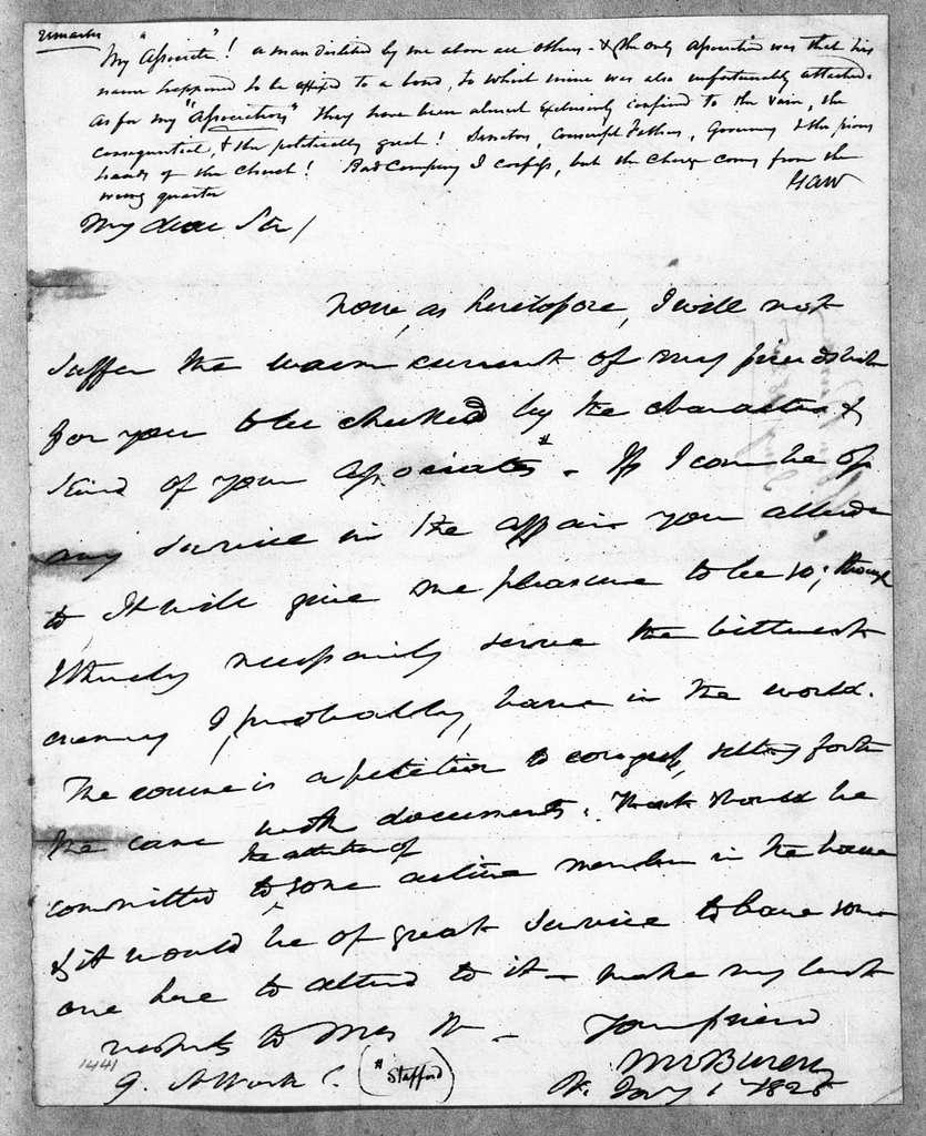 Martin Van Buren Papers: Series 2, General Correspondence, 1787-1868; 1825-1826