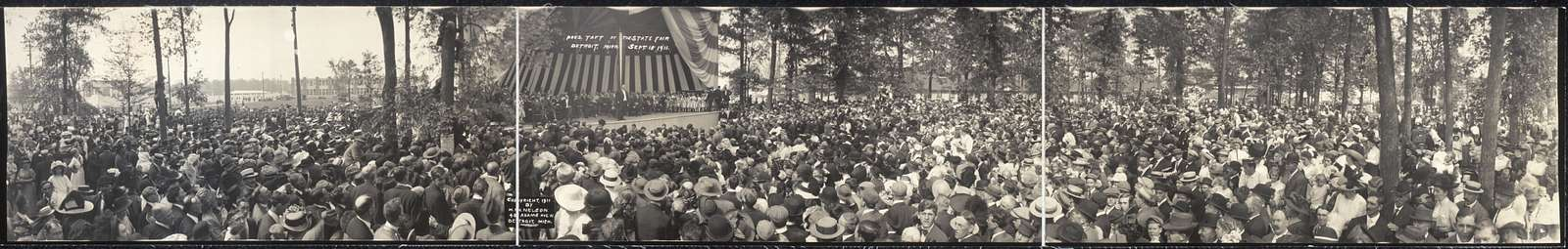 Pres. Taft at the State Fair, Detroit, Mich., Sept. 18, 1911