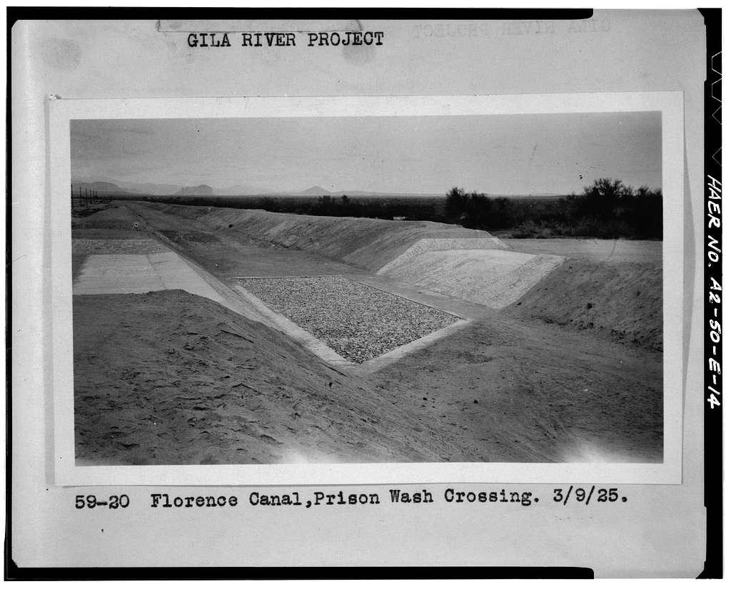 San Carlos Irrigation Project, Marin Canal, Amhurst-Hayden Dam to Picacho Reservoir, Coolidge, Pinal County, AZ