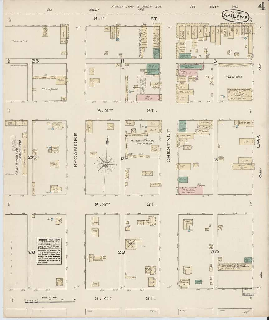 Sanborn Fire Insurance Map from Abilene, Taylor County, Texas.