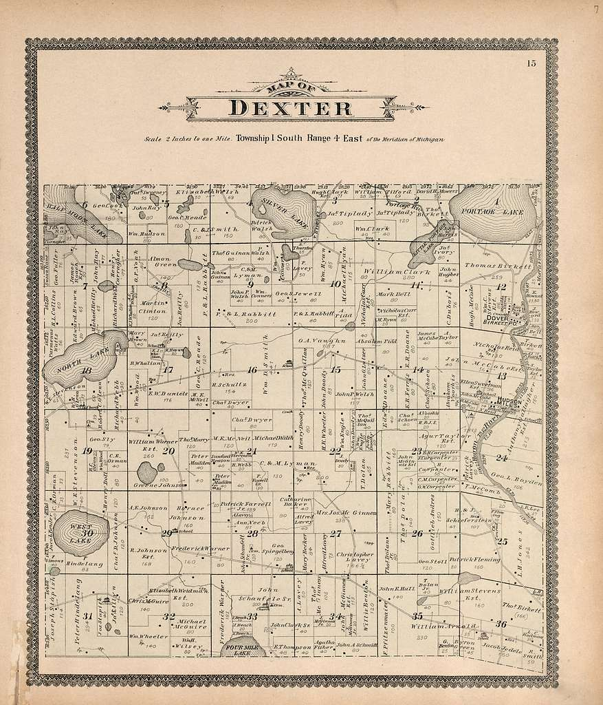Standard atlas of Washtenaw County, Michigan : including a plat book of the villages, cities and townships of the county, map of the state, United States and world, farmers directory, reference business directory and departments devoted to general information, analysis of the system of U.S. land surveys, digest of the system of civil government, etc. etc. /