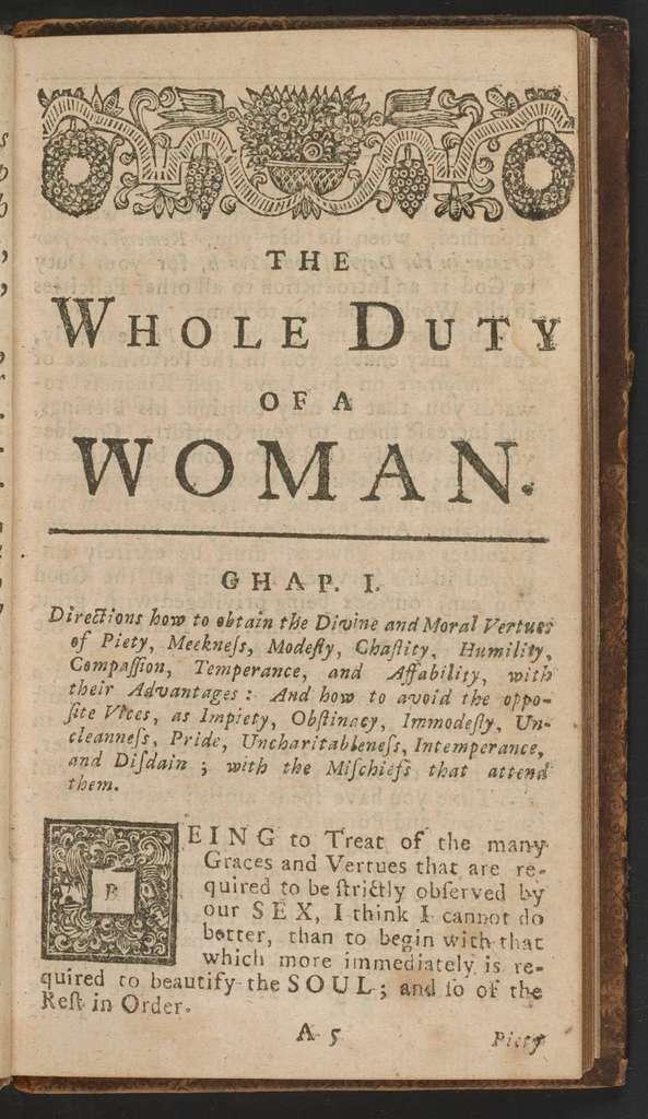 Whole duty of woman