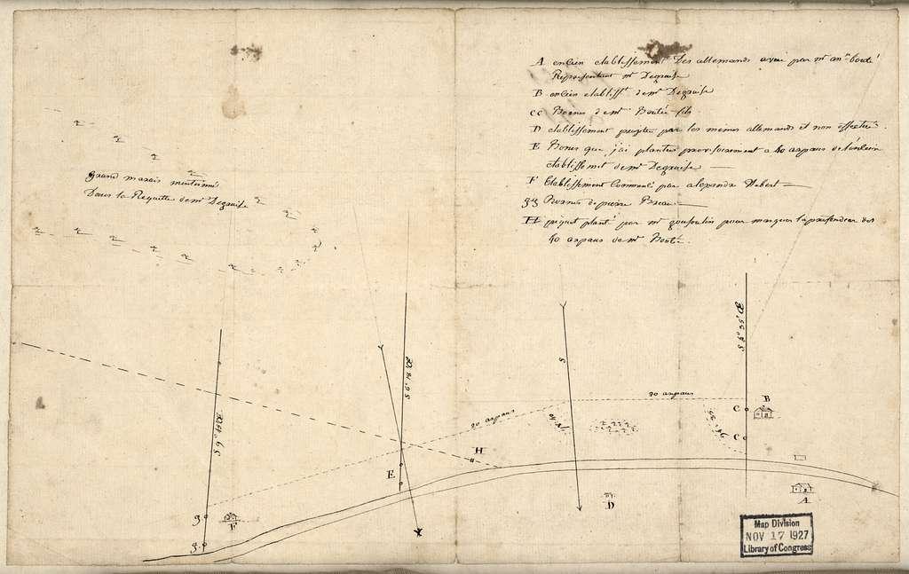 [Attakapa Region land grants, Louisiana].