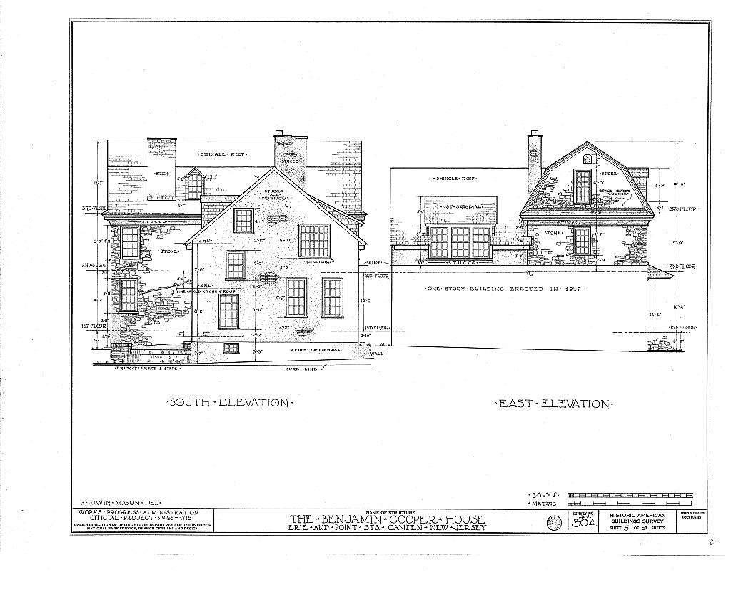 Benjamin Cooper House, Point & Erie Streets, Camden, Camden County, NJ