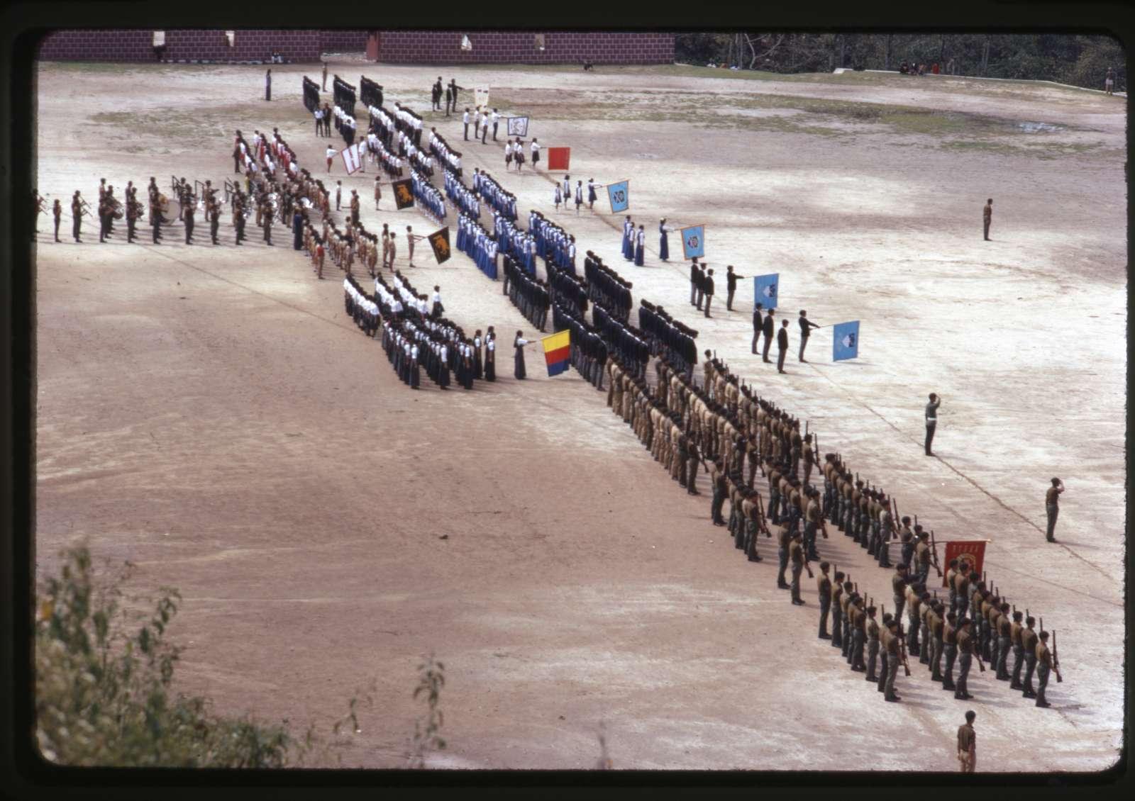 [Birthday parade for King of Sikkim, Gangtok, Sikkim]