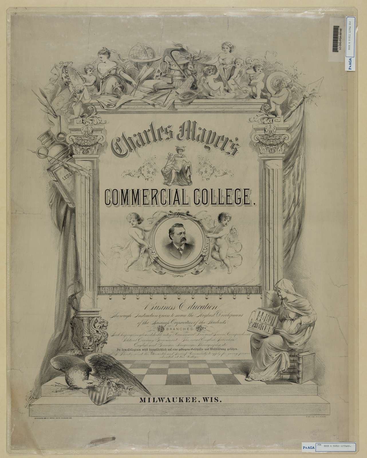 Charles Mayer's commercial college / the Beck & Pauli Lith. Co. Malwaukee.