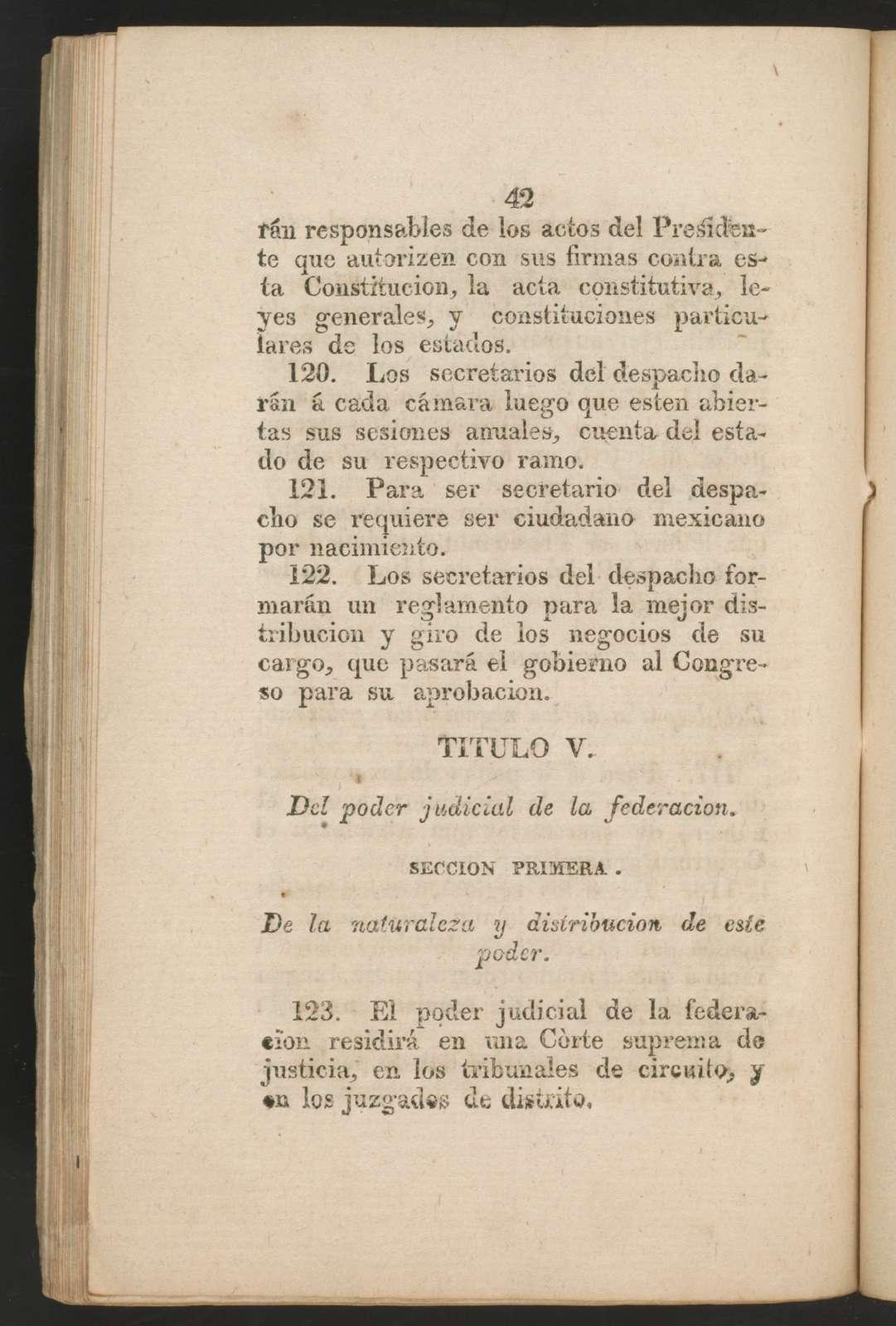 Constitucion federal de los Estados Unidos Mexicanos sancionada por el Congreso general constituyente el 4 de octubre de 1824