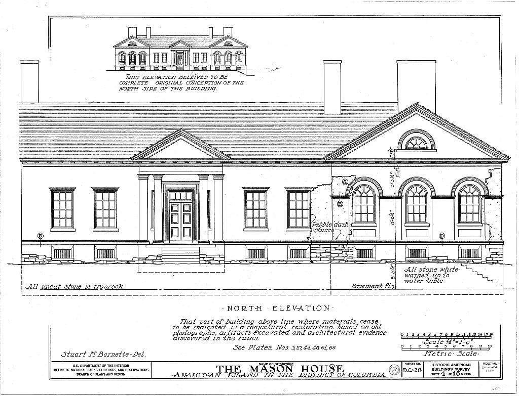 General John Mason House, Analostan Island or Theodore Roosevelt Island, Washington, District of Columbia, DC