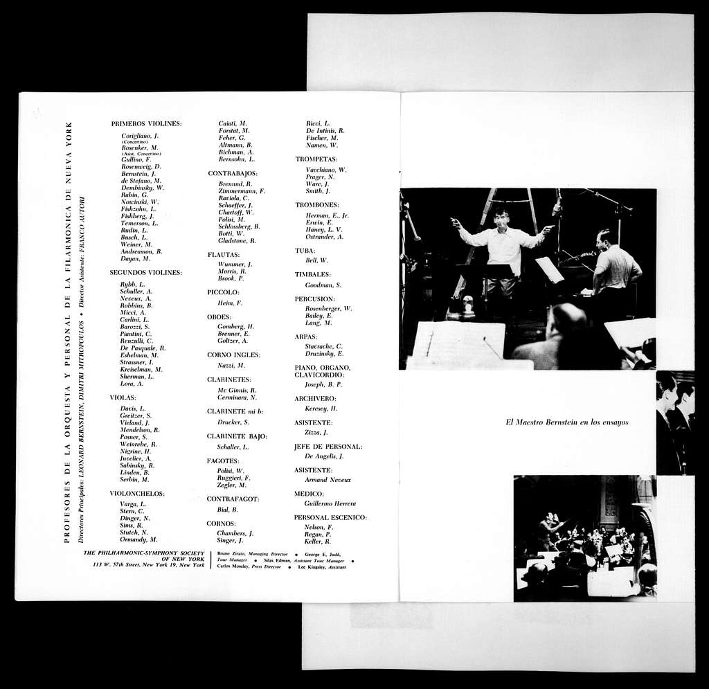 Leonard Bernstein Scrapbook: Vol. 25. April 1, 1958-May 4, 1958