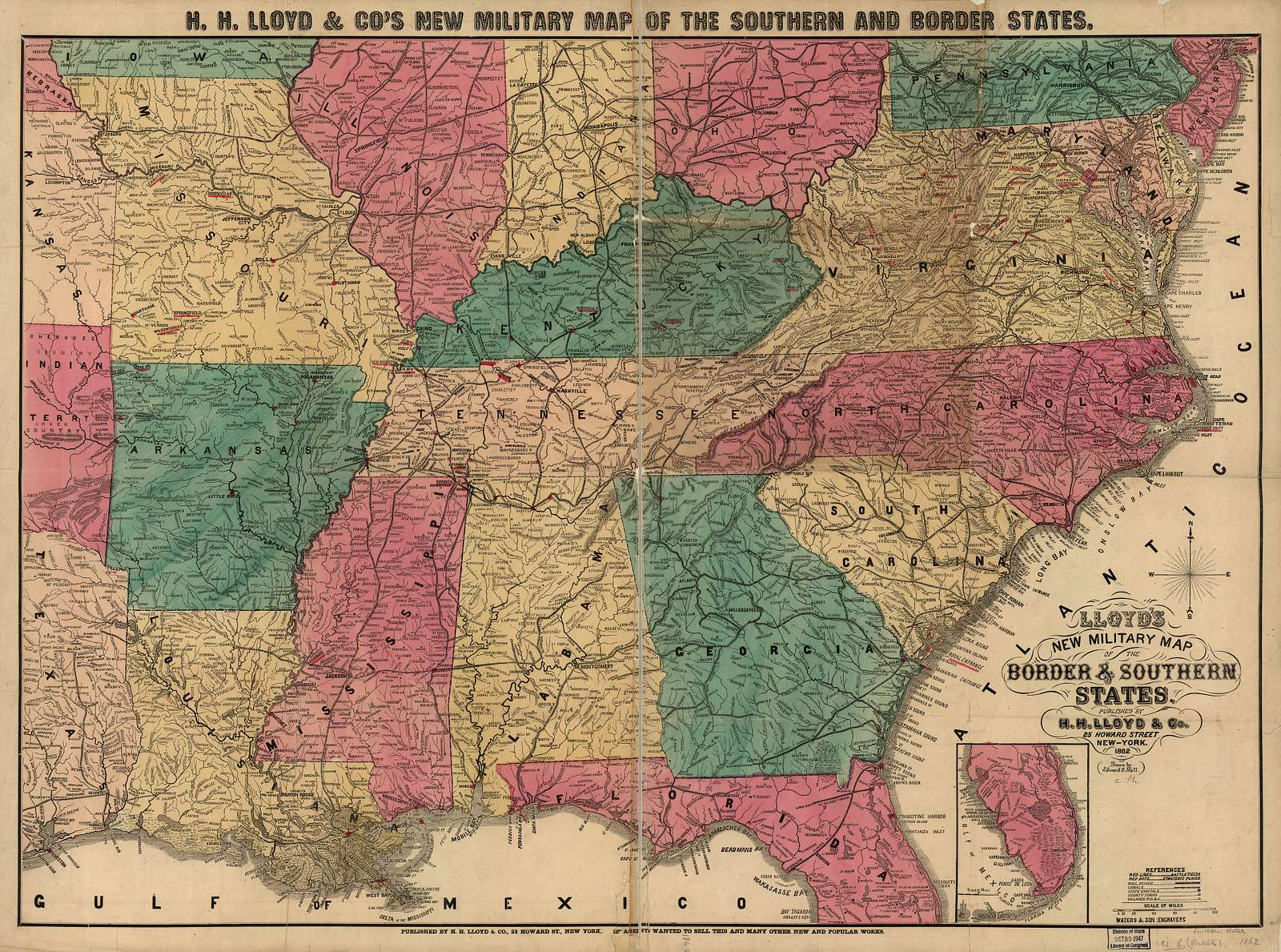 Lloyd's new military map of the border & southern states