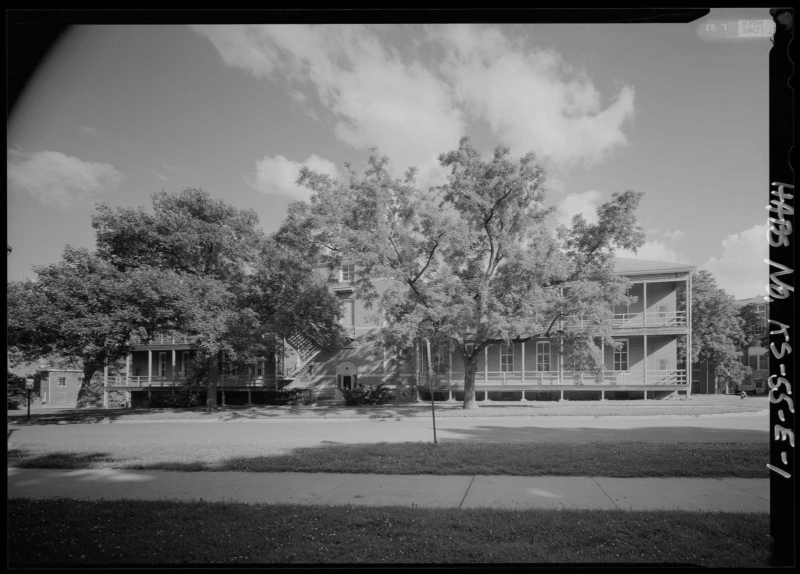 National Home for Disabled Volunteer Soldiers, Western Branch, Barracks, Franklin Avenue, Leavenworth, Leavenworth County, KS