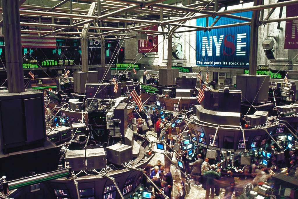 New York Stock Exchange trading floor on Wall Street, New York, New York