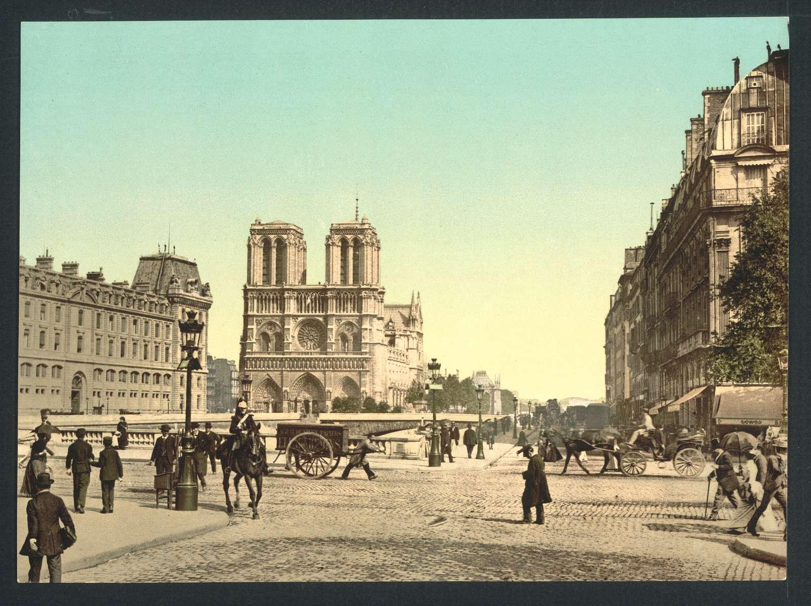 [Notre Dame, and St. Michael bridge, Paris, France]