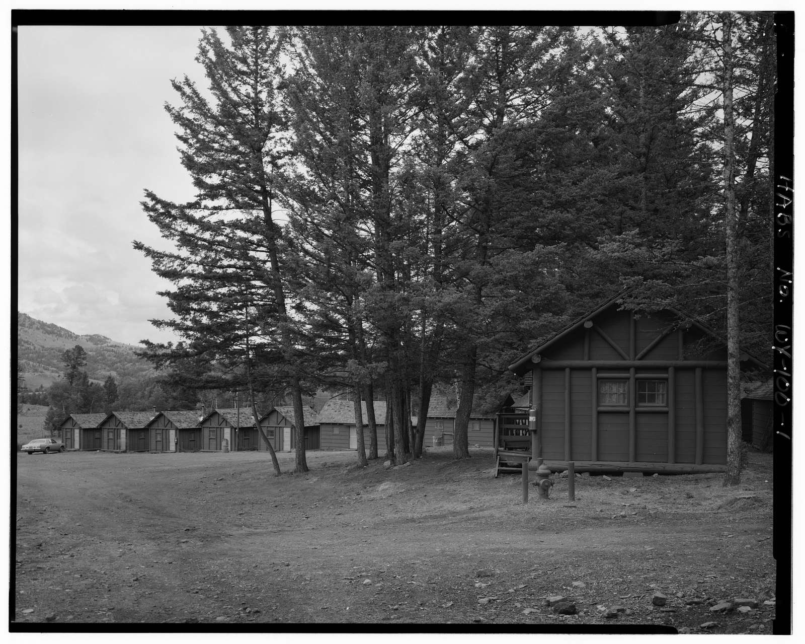 Roosevelt Lodge Historic District, East of Mammoth Hot Springs on Grand Loop Road, Tower Junction, Park County, WY