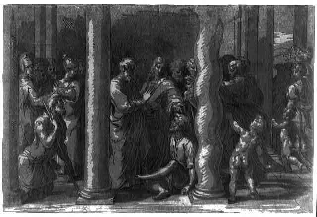Saints Peter and John curing the sick