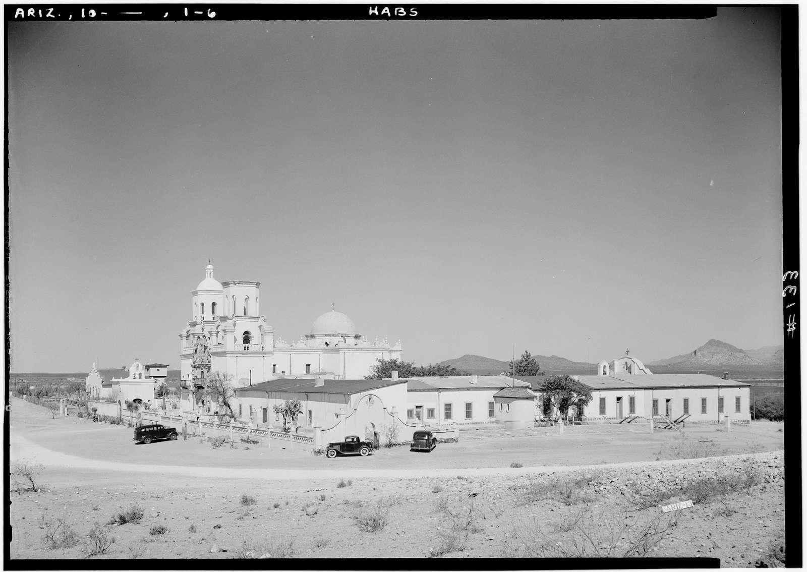 San Xavier del Bac Mission, Mission Road, Tucson, Pima County, AZ
