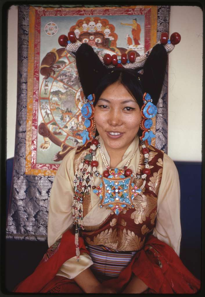 Sikkimese princess in ceremonial dress