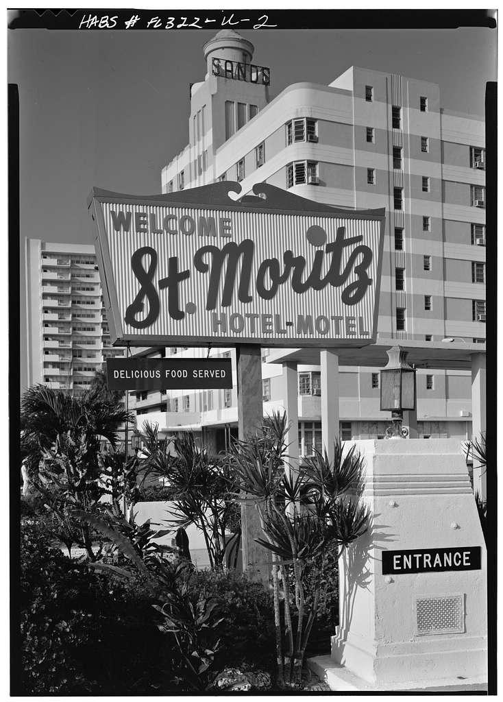 St. Moritz Hotel-Motel, 1565 Collins Avenue, Miami, Miami-Dade County, FL