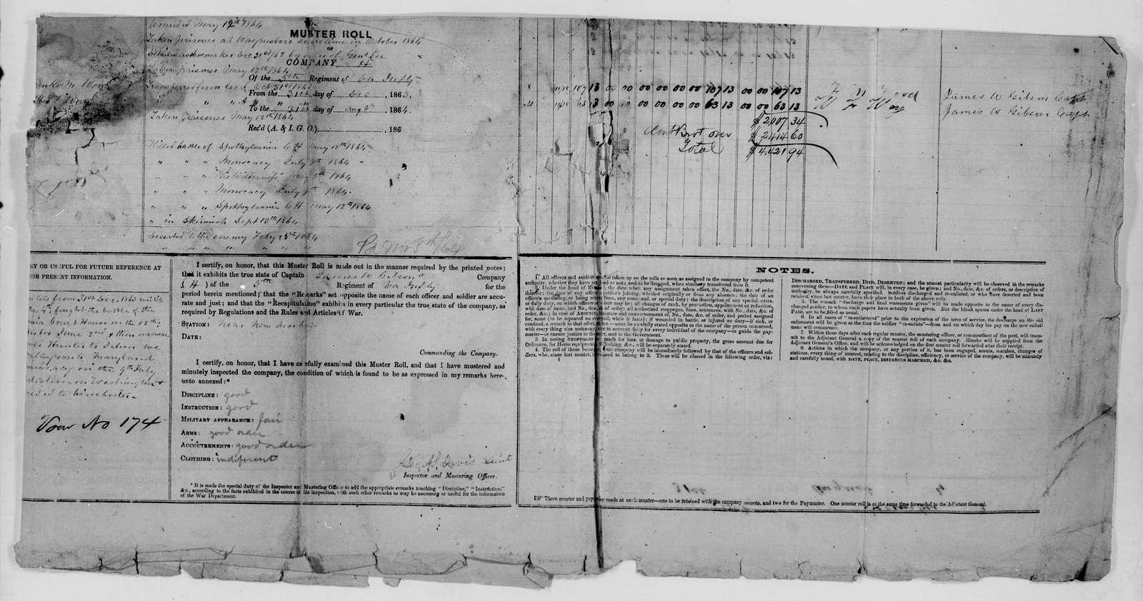 Confederate States of America records: Microfilm Reel 65