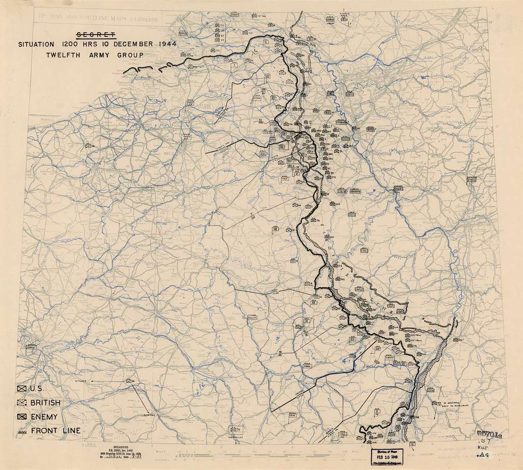 [December 10, 1944], HQ Twelfth Army Group situation map.