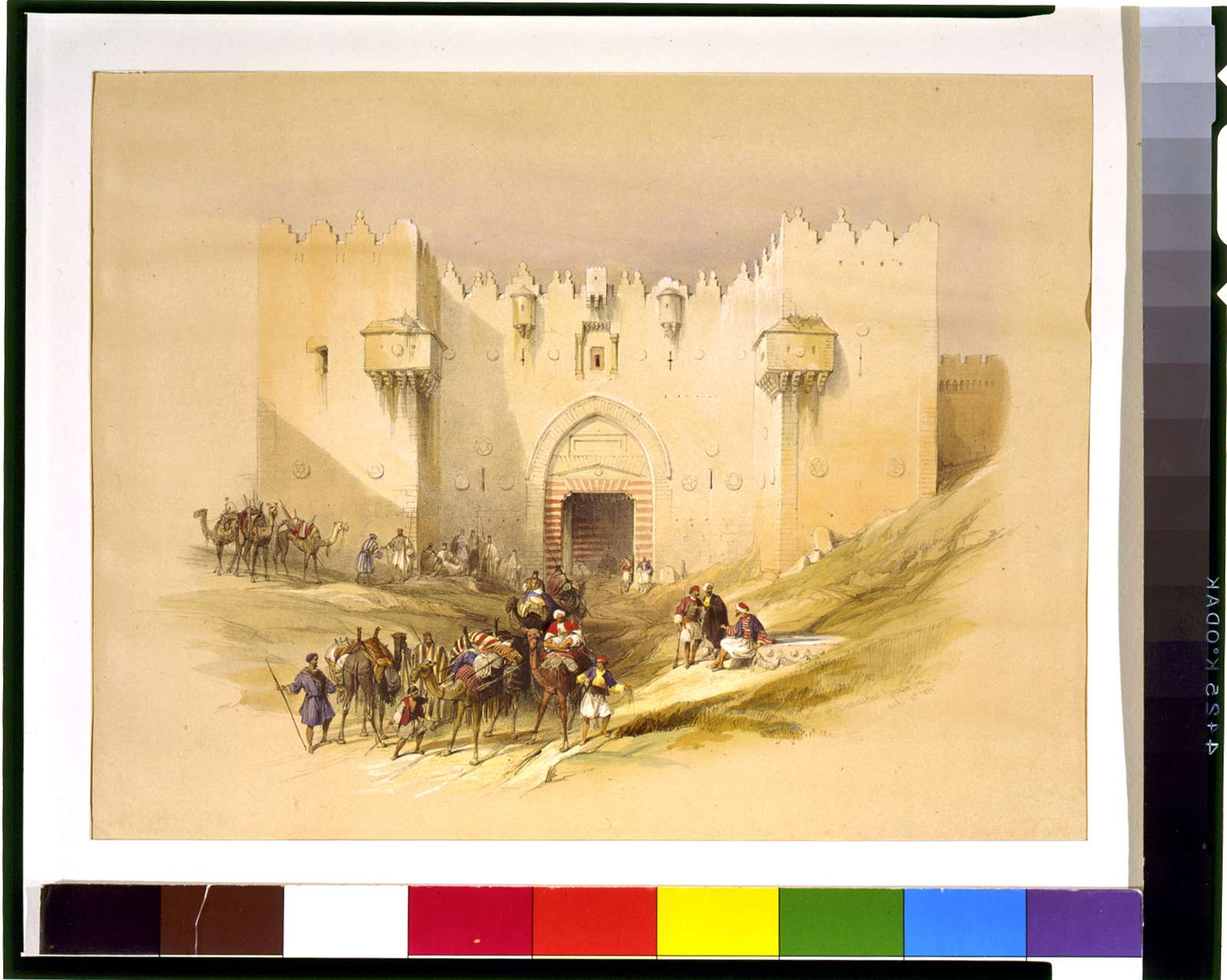 Gate of Damascus Jerusalem April 14th 1839