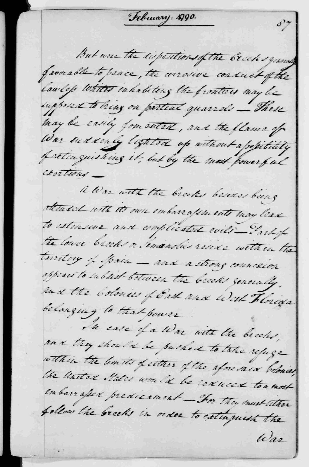 George Washington Papers, Series 2, Letterbooks 1754-1799: Letterbook 35, May 9, 1789 - March 29, 1792