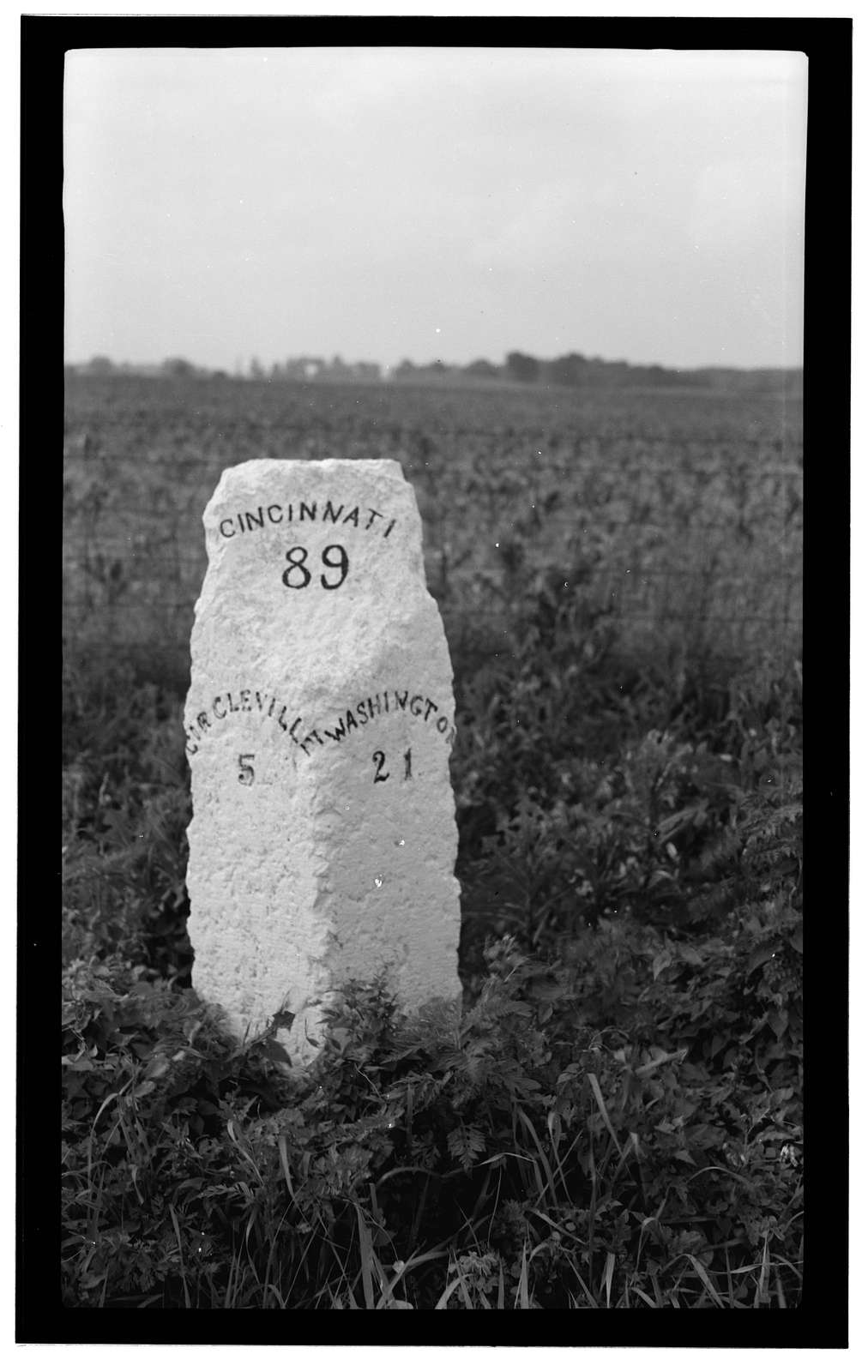 Milestone of Zane's Trace, Route 22, Kinderhook, Pickaway County, OH