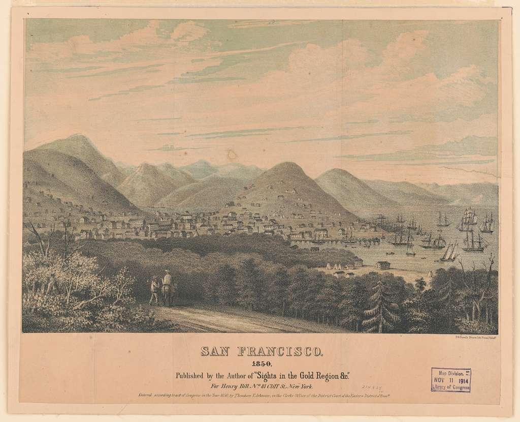 San Francisco, 1850 / P.S. Duval's Steam Lith. Press, Philada.