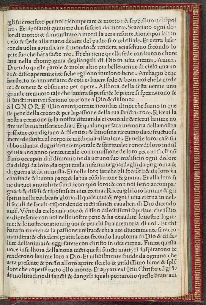Ten thousand martyrs. Italian. La passione de diecimila martyri crucifixi di Iesu Christo dequali scriue sancto Girolamo nel suo martyrilogio che furono crucifixi adi xxii di giugno.