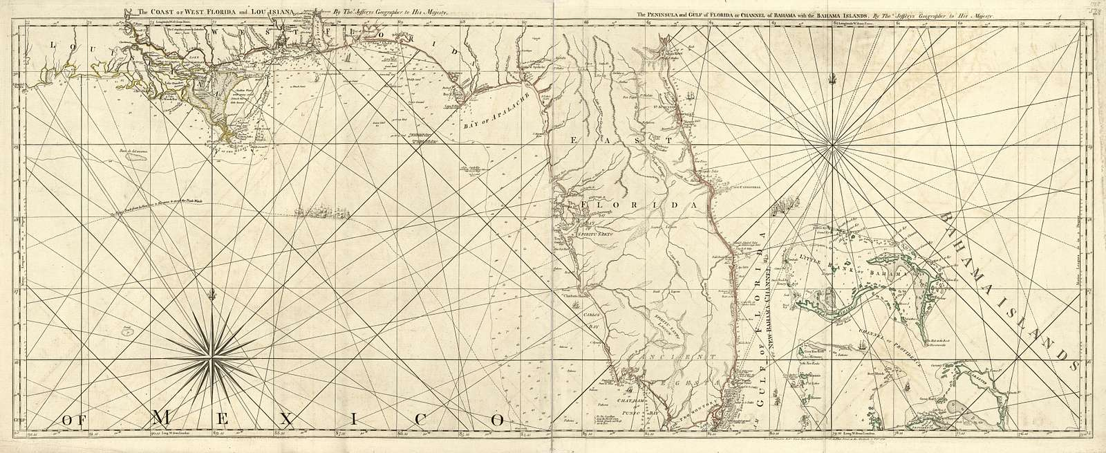 The Coast of West Florida and Louisiana : the Peninsula and Gulf of Florida or Channel of Bahama with the Bahama Islands /