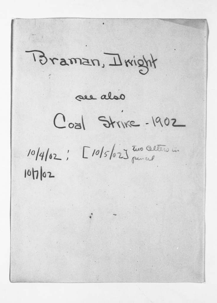 Theodore Roosevelt Papers: Series 13: Miscellany, 1881-1931; Subseries 13F: Cross References, 1901-1909; A-C
