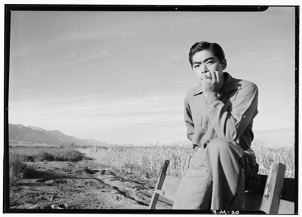 Tom Kobayashi, Landscape, Manzanar Relocation Center, California / photograph by Ansel Adams.