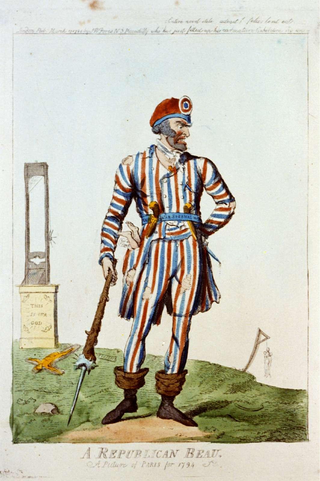 A republican beau - a picture of Paris for 1794 / I. Cruikshank del.