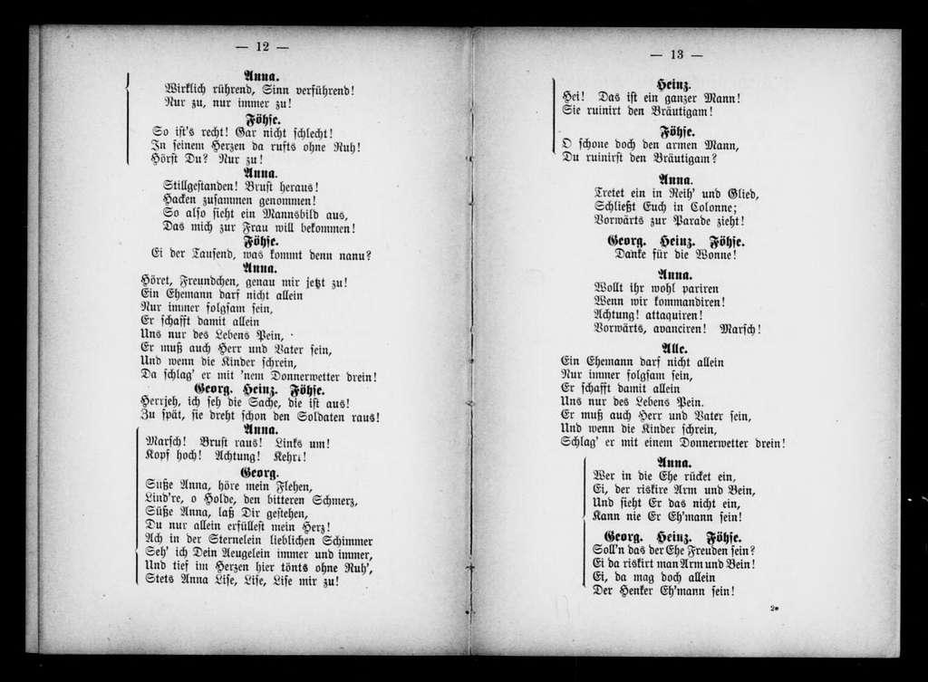 Alte Dessauer. Libretto. German
