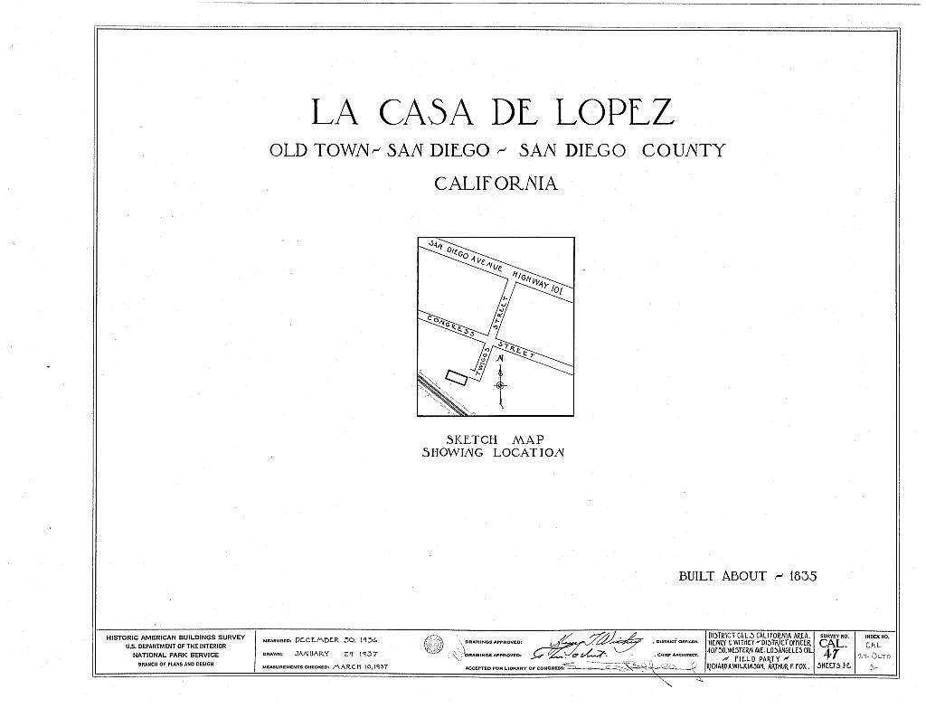 La Casa de Lopez, Twiggs Street, Old Town, San Diego, San Diego County, CA