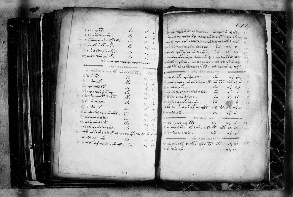 Monastery of Iviron 654. (old 30). (Greg. 998). Four Gospels. 12th cent. (?) 215 f