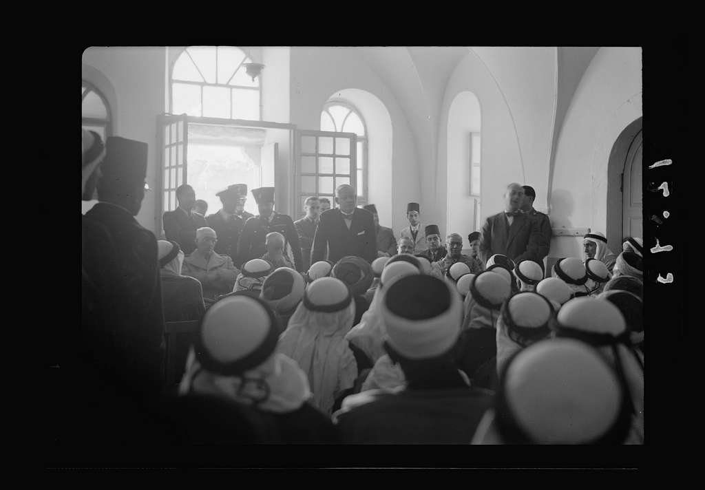 Recruiting meeting at Bokriyeh School. Mr. Keith Roach addressing the gathering