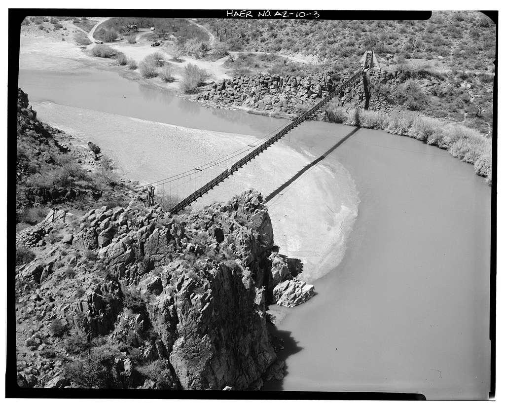 Verde River Sheep Bridge, Spanning Verde River (Tonto National Forest), Cave Creek, Maricopa County, AZ