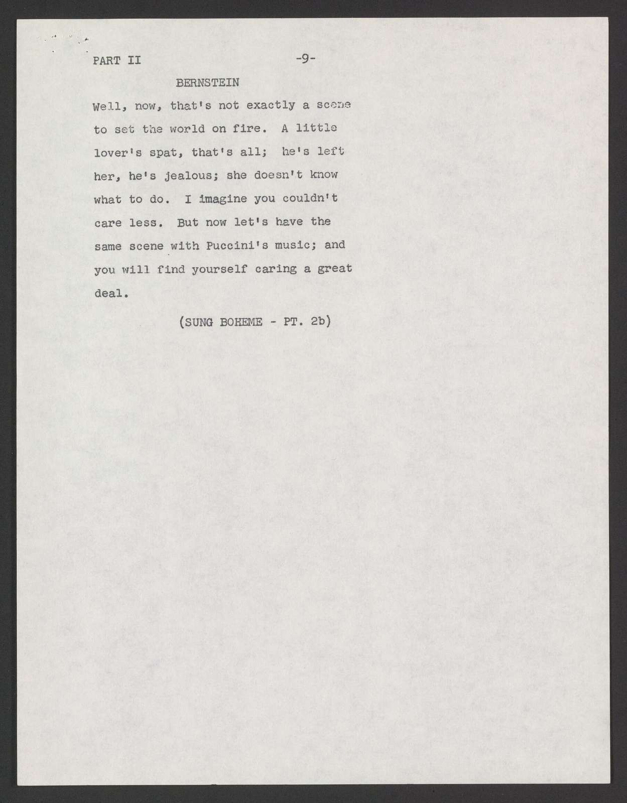 What makes opera grand? TV script, Omnibus, 1958 March 23
