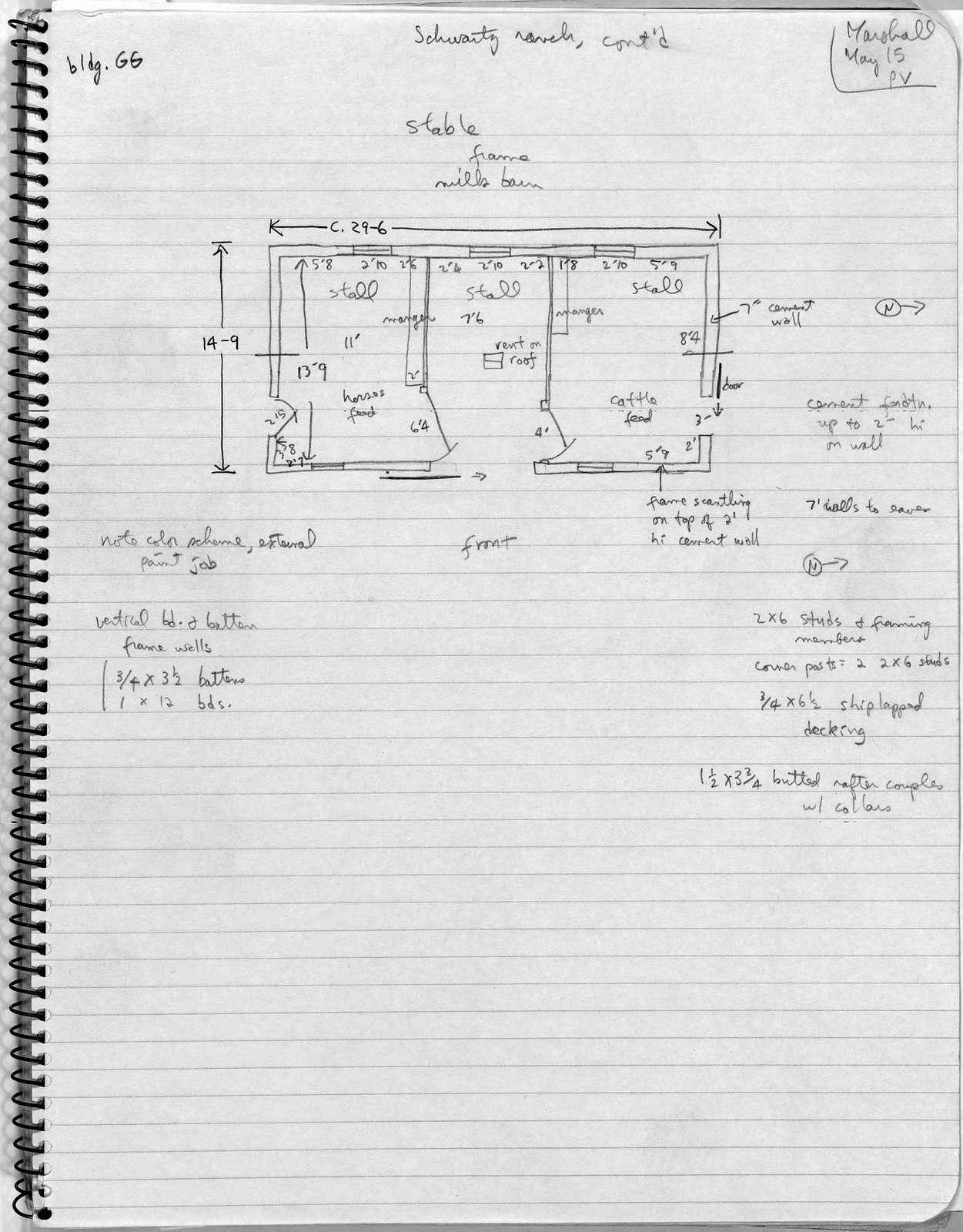 Barn Plan, Schwartz Ranch