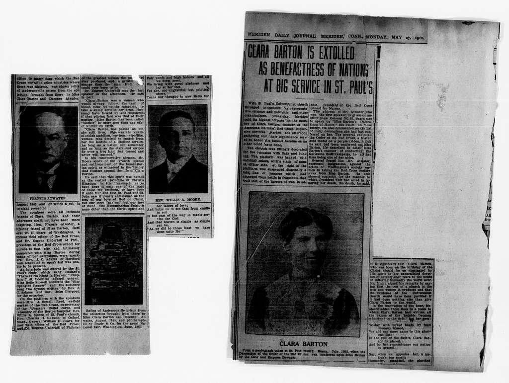 Clara Barton Papers: Scrapbooks, 1835-1930; 1865-1929